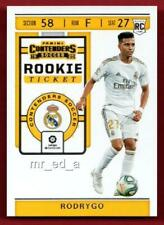 Rodrygo Rookie Ticket 2019-20 Chronicles Contenders Soccer RT-7 Real Madrid CF