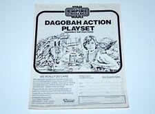 STAR WARS - ORIGINAL SPARE INSTRUCTIONS 1981 ESB DAGOBAH ACTION PLAYSET KENNER