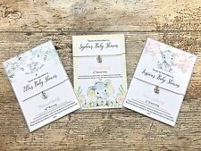 Baby Shower Wish bracelet favour gift thank you for coming elephant boy girl