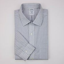 Brooks Brothers 17 33 Shirt White Multicolor Micro Check Classic Non Iron Supima