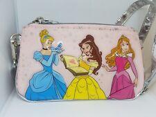 Disney Parks Princess Cinderella Belle Aurora Zip Pocket Purse Zipper Pouch New