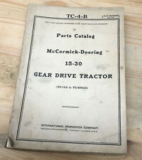 Parts Catalog McCormick-Deering 15-30 Gear Drive Tractor 1943 IH Case Very Rare