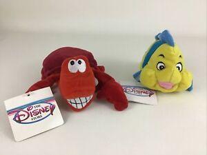 Disney Store Little Mermaid Sebastian Flounder Bean Bag Plush Stuffed Toy Tags