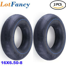 16X6.50-8 Inner Tube Lawn Tractor Garden Tire 16x6.5x8 71-816 Pack of 2