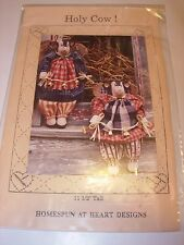 PROJECT PATTERN FABRIC SEWING STUFFED COW ANGEL GIRL COUNTRY DECOR ANIMAL DOLL