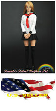 1/6 girl Clothes Female School Uniform set for Kumik Phicen Hot Toys ❶❶USA❶❶