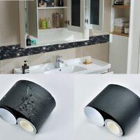 5M Self Adhesive Wall Skirting Border Wallpaper Waterproof Deco Floral Black DIY