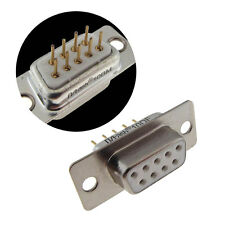 DB9 D-Sub Receptacle Female Sockets Connector Panel Mount Solder