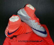 Nike Womens Hypervenom Phantom III DF FG, Wolf Grey/Purple Dynasty, Size 7