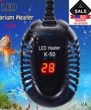 100W Mini Submersible Aquarium Heater Fish Tank Turtle Temperature Led Us Plug