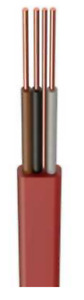 H6243Y 1.5mm² PVC 3 Core and Earth Cable Red Various Lengths Available #703