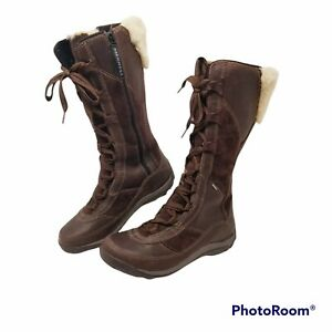 Merrell Prevoz Waterproof Winter Primaloft Bown Lace Up Lined Boots sz 9 Women
