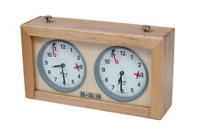 Wood GARDE Analog Chess Clock - Timer - Schachuhr. Orologio per scacchi