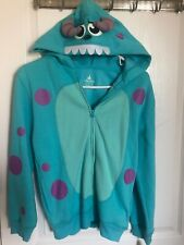 Disney Parks Sulley Monster INC. Hoodie ZIP UP Sweatshirt Jacket kids size Large