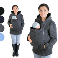 BASIC Baby carrier hoodie Kangaroo coat jacket for Mom  baby wearing fleece