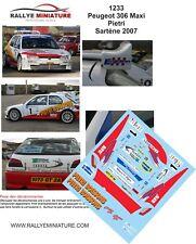DECALS 1/24 REF 1233 PEUGEOT 306 MAXI PIETRI RALLYE SARTENE 2007 RALLY