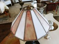 "12"" TIFFANY STYLE STAINED GLASS ART DECO MISSION LAMP SHADE"