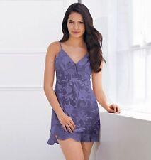 AVON LACE CHEMISE Gown Blue FLORAL L(14-16)New
