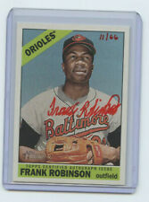 2015 TOPPS HERITAGE HIGH # RED AUTOGRAPH FRANK ROBINSON #11/66 BALTIMORE ORIOLES