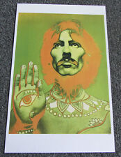 "BEATLES ~17"" x 11"" PRINT OF RICHARD AVEDON POSTER OF GEORGE HARRISON IN SLEEVE"