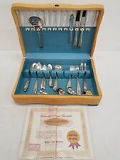 National Silver Company 1937 'Rose and Leaf' Pattern A-1 Silverplate Flatware