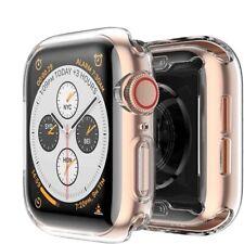 CUSTODIA per Apple Watch series 6 / SE Cover BUMPER SILICONE CLEAR TPU 44 40 mm