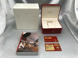 Genuine OMEGA Empty Watch Box authentic Booklet card Guarantee 1224001 P65
