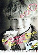 Publicité Advertising 037  1985  le fromage Kiri à la créme