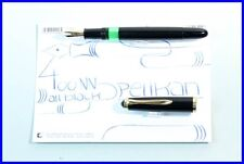 PROTOTYPE? PELIKAN 400NN Pen in Black with never seen Ink-View F Nib14C 585 Gold