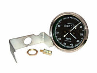 NEW BSA ROYAL ENFIELD NORTON SMITHS REPLICA SPEEDOMETER 0-80 MPH.BLACK FACE