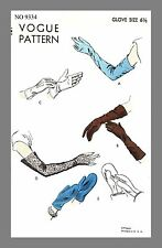 Vogue Vintage  Gloves Mitten Mitt  Fabric material sewing pattern #9334