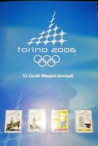 FOLDER EMESSO IN OCCASIONE DEI VENTESIMI GIOCHI OLIMPICI INVERNALI TORINO 2006