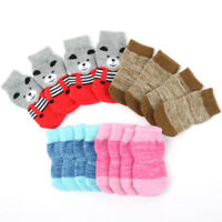 4Pcs/set Small Pet Dog Indoor Warm Socks Skid Bottom Puppy Soft Anti-slip Socks
