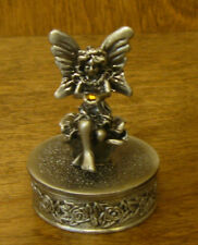 """Trinket Box #50224 Fairy, New/Box From Retail Store 2.25"""" Pewter, Retired"""