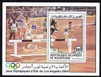 Mauretanien Block 58, Leichtathletik Sport Hindernislauf Olympiade Los Angeles