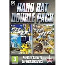 Hard Hat Double Pack (Crane & Digger) Simulator Game PC 100% Brand New