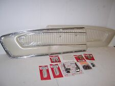 1965 1966 Mustang White Complete Pony Door Panel conversion or replacement kit.