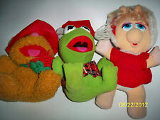 Vintage Muppet Baby McDonald's Kermit Miss Piggy Fozzie, 7 in. tall, 1987 lot /3