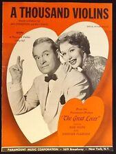 "1949 ""A Thousand Violins"" Vintage Movie Sheet Music Cover Bob Hope"