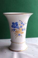 Höchst Vase Tischvase  Trichtervase Blumendekor Höhe 12,5 cm