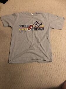 Vintage 90's T Shirt George Foreman Boxing World Champion HOF 2XL Quality