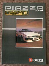 Isuzu Piazza Turbo brochure   in Very Good Condition