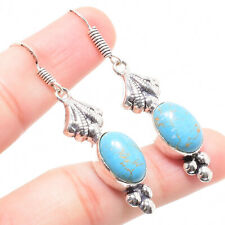 Turquoise Gemstone 925 Sterling Silver Earring 2.36 Inch ER-7