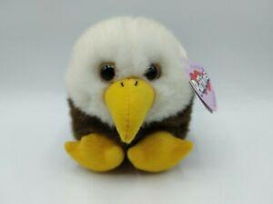 Baldwin the Eagle Puffkins Plush Stuffed Animal Vintage Swibco