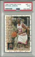 RARE HOF Michael Jordan 1996 Topps Pro Files #PF-3 PSA 9 MINT Chicago Bulls