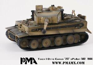 TIGER I OTTO CARIUS 217 SPZABT 502 1944 WITH DIECAST ENGINE - PMA PMAP0331 1/72