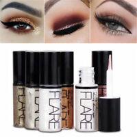 Waterproof Metallic Shiny Eyeshadow Glitter Liquid Eyeliner Cosmetic LongLasting