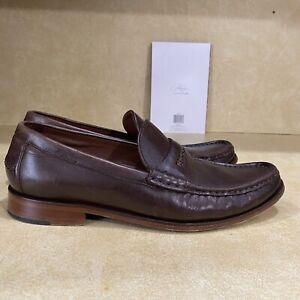 Cole Haan Pinch Gotham Dark Brown Penny Loafers Size 8M Vibram Soles C21432