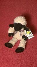 "10"" Manhattan Toy FLOPPY LAMB black face cream body plush stuffed toy w/ tag"
