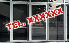 3 Aufkleber mit Ihrer Telefonnummer Schaufenster Schaufensterbeschriftung Tel.